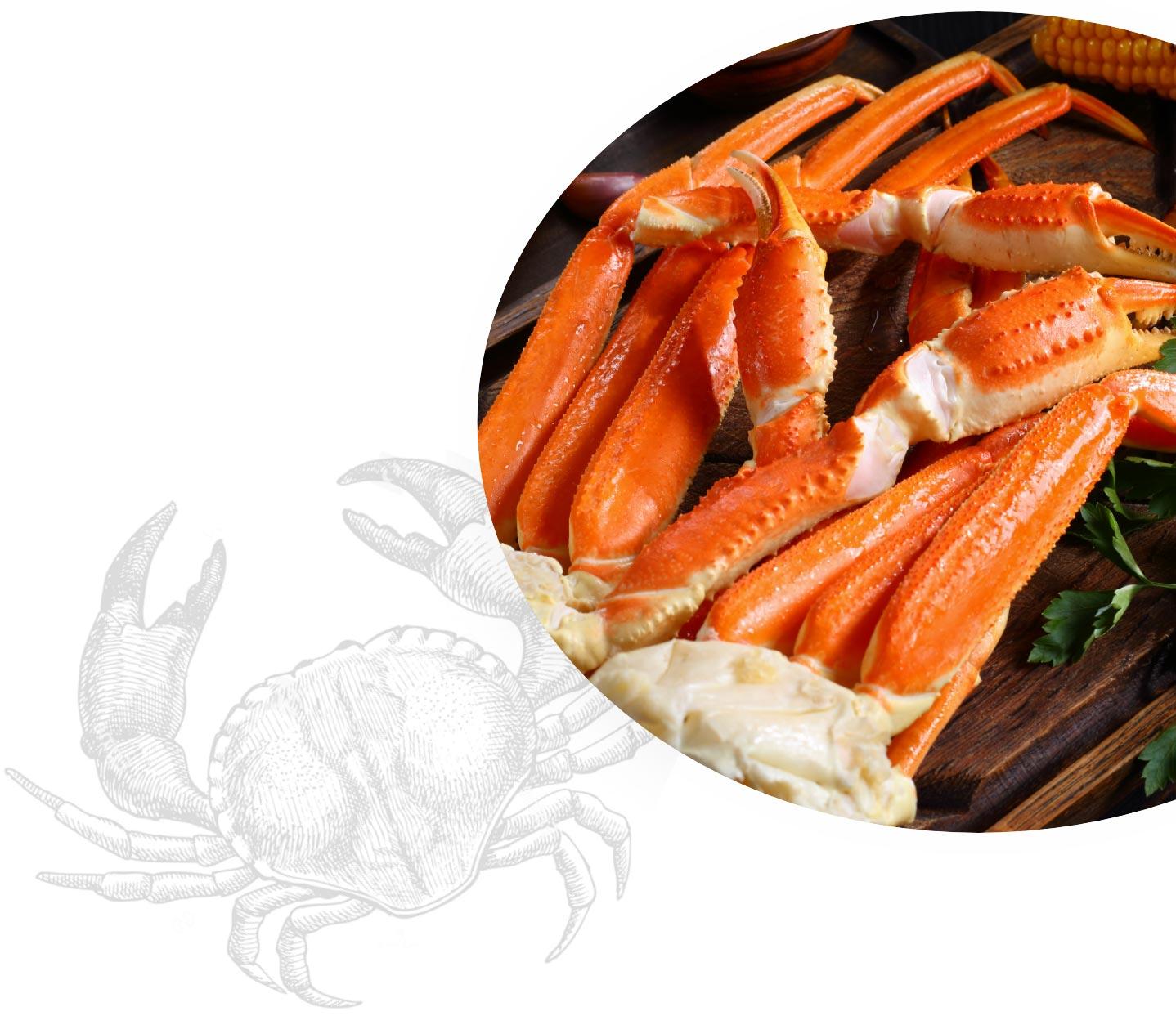 Crabe frais et cuit à la perfection